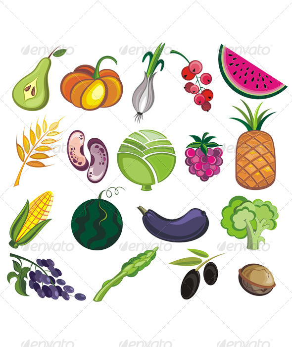 Collection of Various Fruits and Vegetables