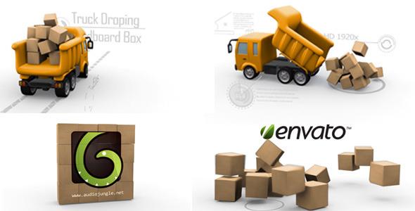 Truck Dropping Cardboard Box
