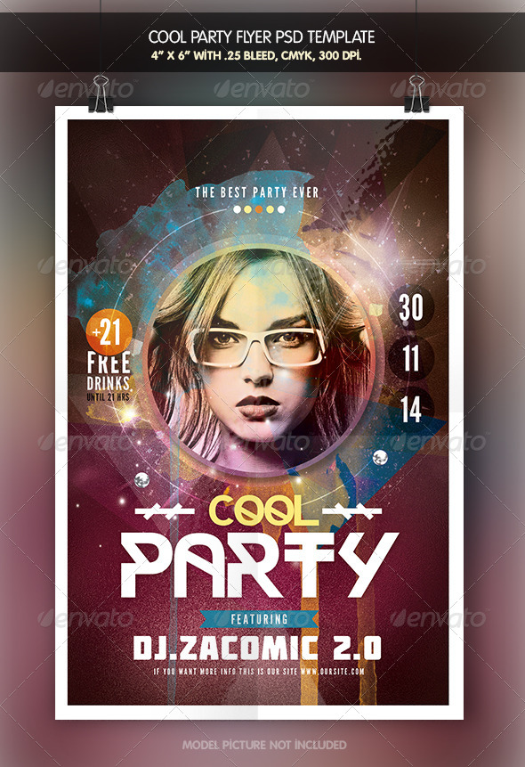 cool party flyer template clubs parties events