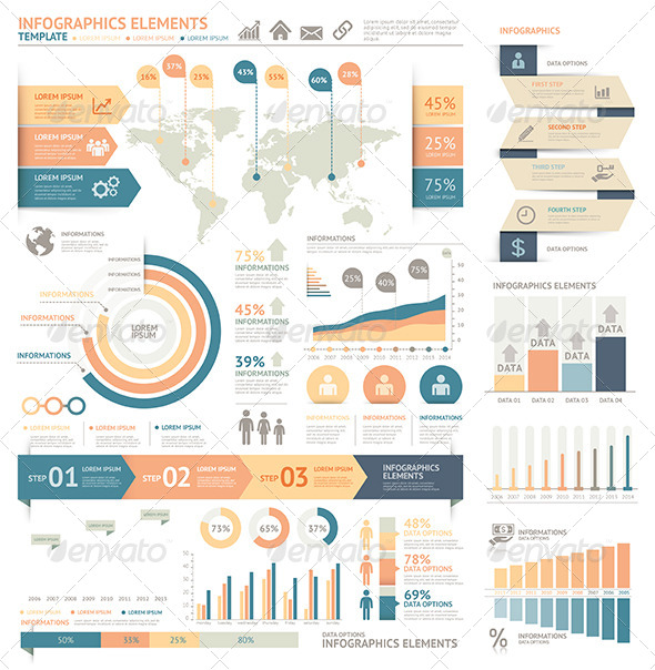 GraphicRiver Modern Infographic Element Template 7809571