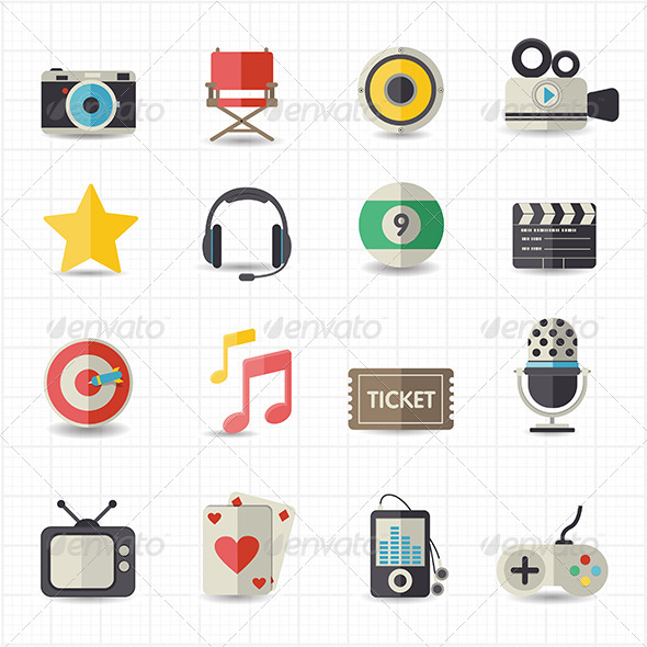 GraphicRiver Entertainment Movie Icons 7809706