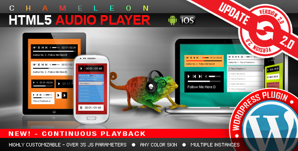 HTML5 Audio Player WordPress Plugin - CodeCanyon Item for Sale