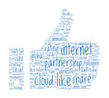 Social Like Concept - Thumb Up shaped word cloud - PhotoDune Item for Sale