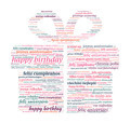 Gift Box Shaped Happy Birthday in Word Cloud - PhotoDune Item for Sale