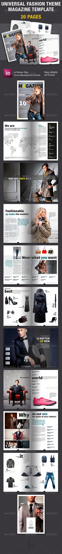 GraphicRiver Universal Fashion Theme Magazine Template 7810315
