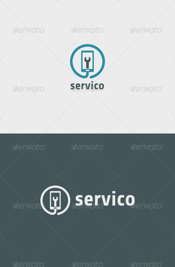 Mobile Servico Logo - Objects Logo Templates
