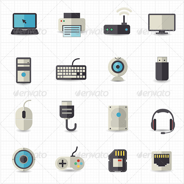 GraphicRiver Electronic Devices Icons 7811089