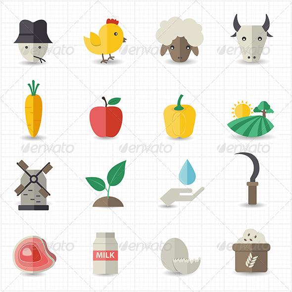 GraphicRiver Farm Icons 7811190