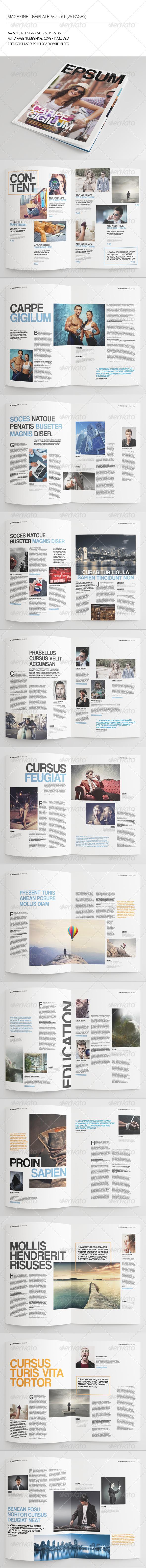 GraphicRiver 25 Pages Simple Magazine Vol61 7811215