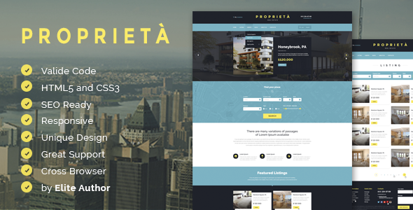 Proprieta Responsive HTML Template - Business Corporate