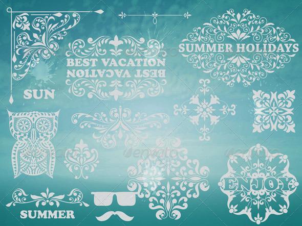 GraphicRiver Summer Design Elements 7811699