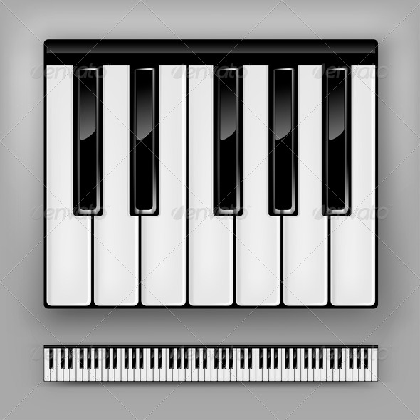 GraphicRiver Piano Keyboard 7811763