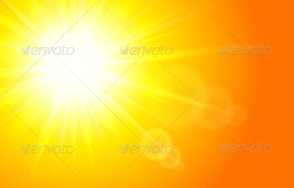GraphicRiver Sun Horizontal Background 7811781
