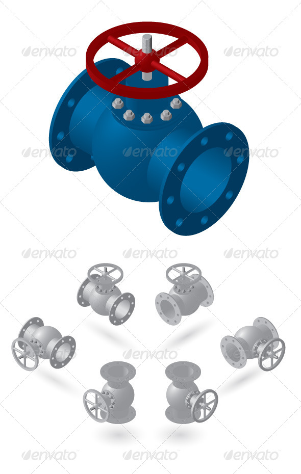 GraphicRiver Isometric Valves 7811786