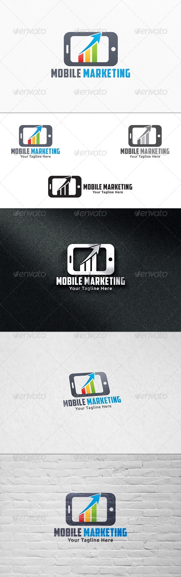 GraphicRiver Mobile Marketing Logo Template 7811839