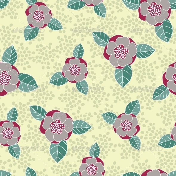 GraphicRiver Seamless Rose Pattern 7811846