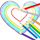 Colourful Heart Drawn with Pencils - GraphicRiver Item for Sale