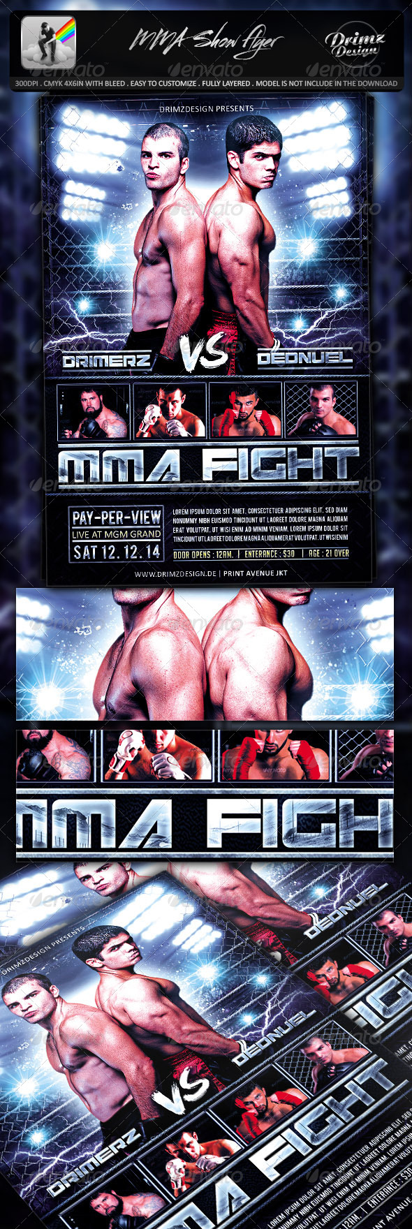 GraphicRiver MMA Show Flyer 7812097
