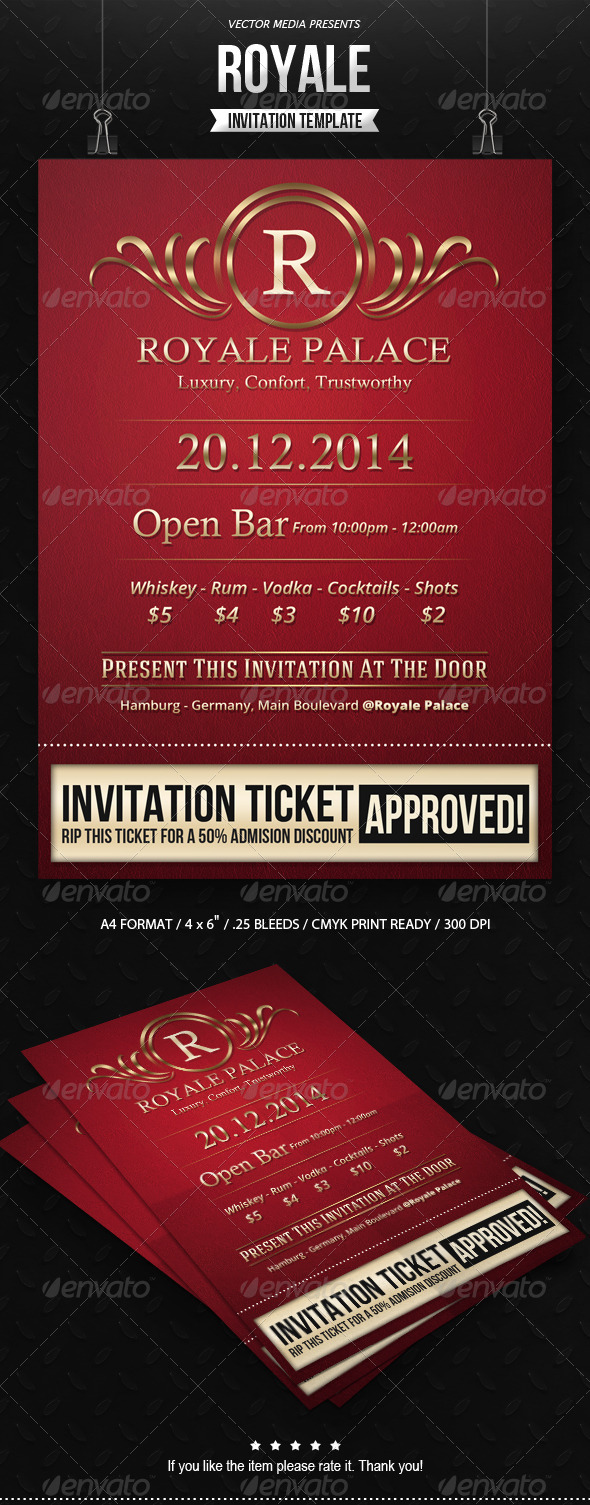 GraphicRiver Royale Invitation 7812106