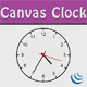 Fully customizzable Canvas Clock - CodeCanyon Item for Sale