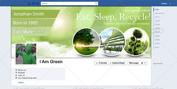 GraphicRiver I Love Green Facebook Timeline 7812211