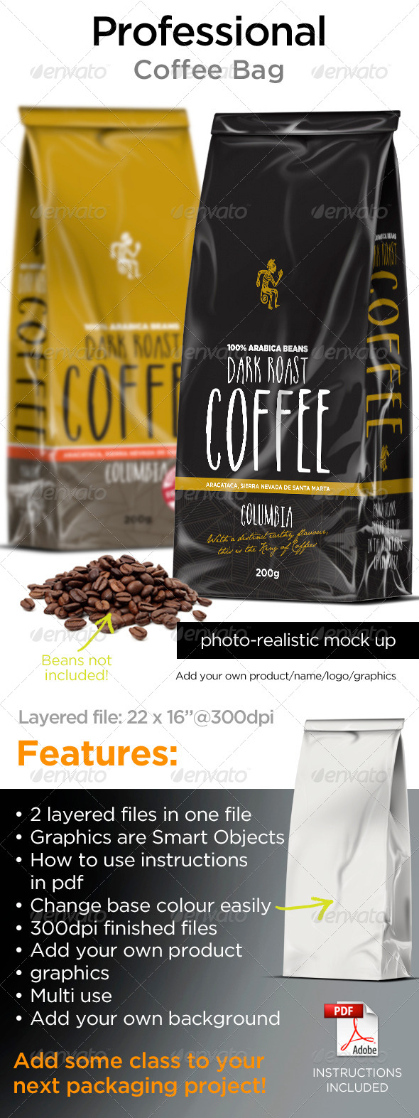 GraphicRiver Coffee Bags 7791170