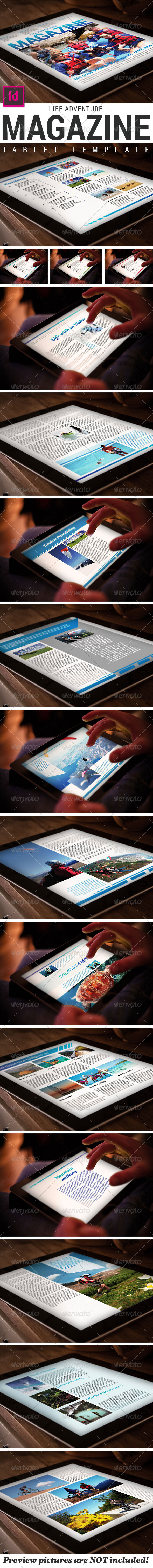 GraphicRiver Tablet Adventure Magazine Template 7812264