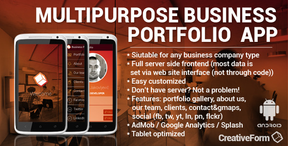 CodeCanyon Multipurpose Business Portfolio App 7812691