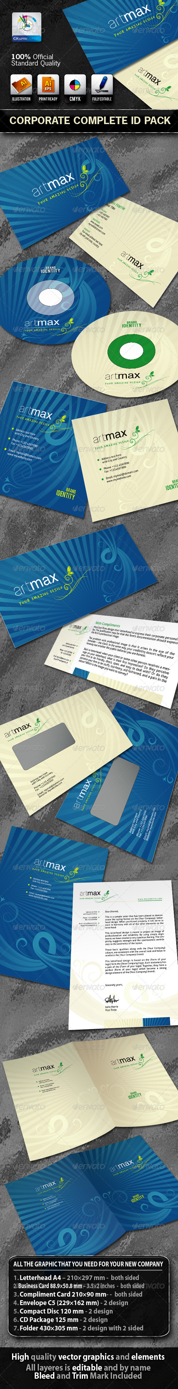 ArtMax Business Corporate ID Pack With Logo