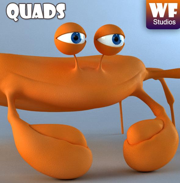 3DOcean Cartoon Crab 7812853