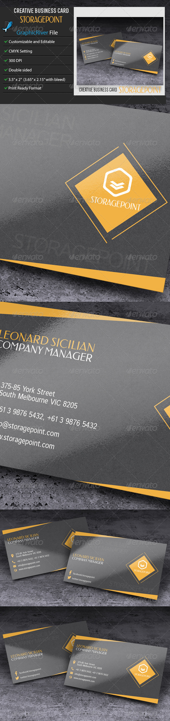 GraphicRiver Business Card StoragePoint 7812855