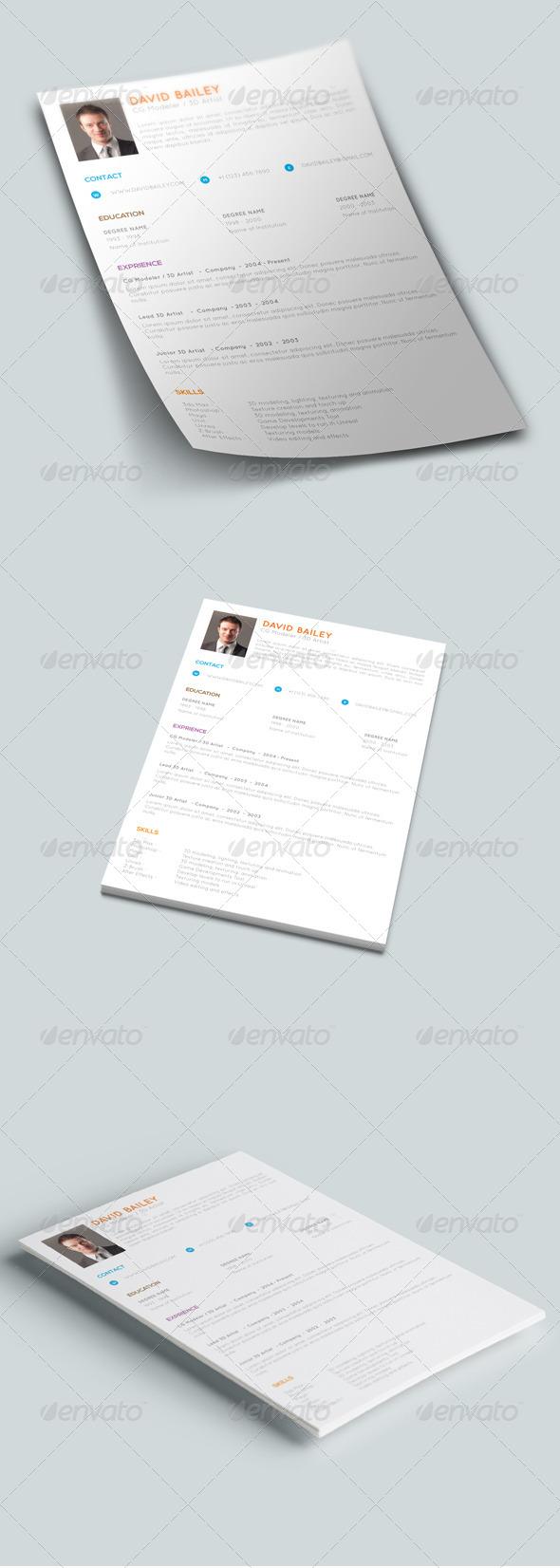 GraphicRiver Clean & Creative Resume 7813006