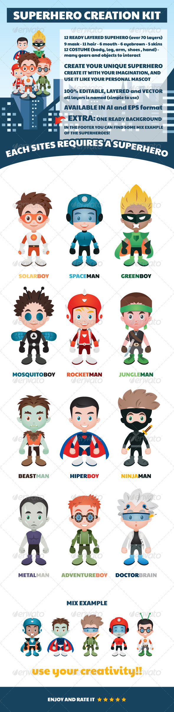 GraphicRiver Superhero Creation Kit 7797665
