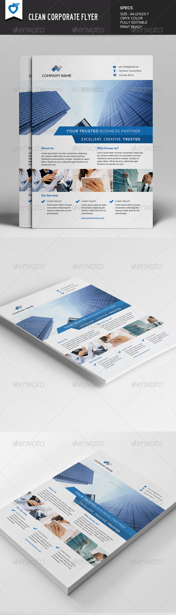 GraphicRiver Clean Corporate Flyer v2 7813253