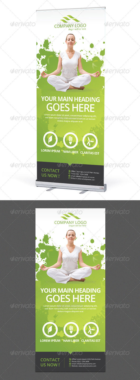 Corporate Banner or Rollup