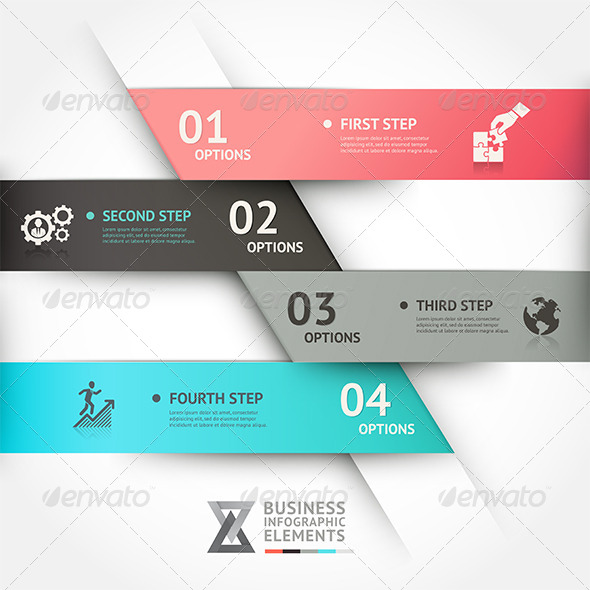 GraphicRiver Modern Business Infographic Origami Template 7813478