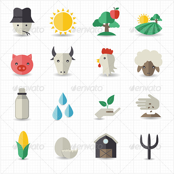 GraphicRiver Farm Icons Set 7813722