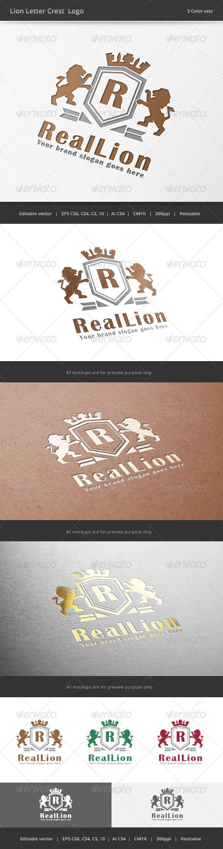 GraphicRiver Lion Letter Crest Logo 7813779