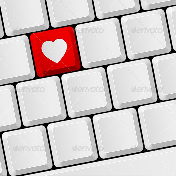 GraphicRiver Keyboard with Heart Button 7813880