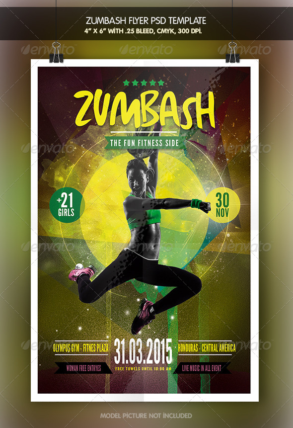 GraphicRiver Zumbash Fitness Flyer Template 7813933