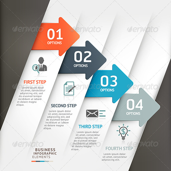 GraphicRiver Modern Business Arrow Infographic Template 7813943