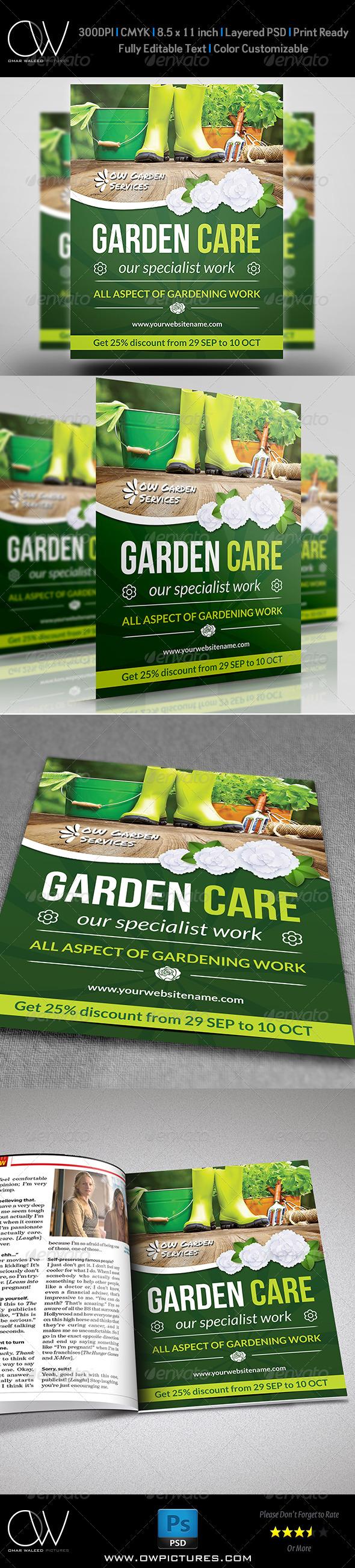GraphicRiver Garden Services Flyer Vol.2 7814022
