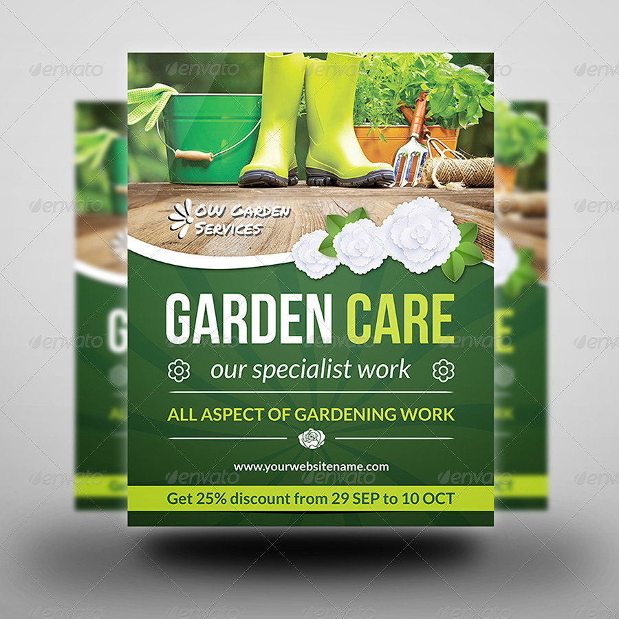 Garden services flyer vol 2 by owpictures graphicriver for Gardening services