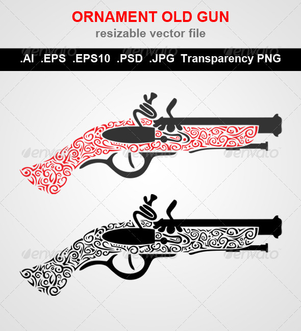 GraphicRiver Ornament Gun 7814025
