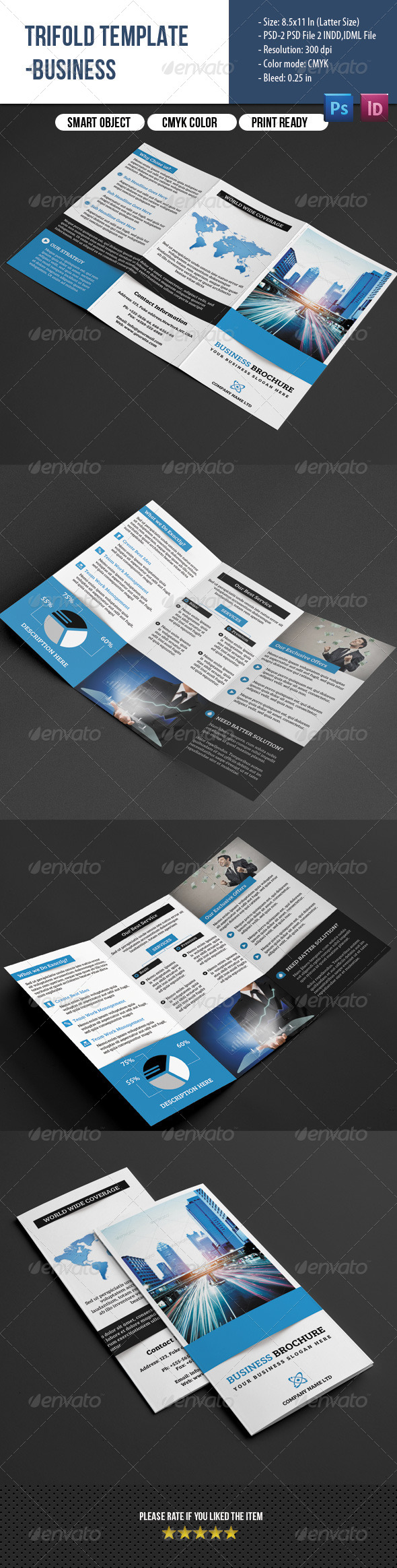 GraphicRiver Trifold Business Brochure 7814091