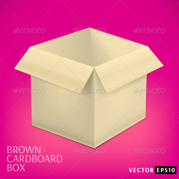GraphicRiver Open Cardboard Box 7814169