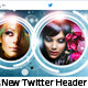 3 Mix Round New Twitter Header Profile Background - GraphicRiver Item for Sale