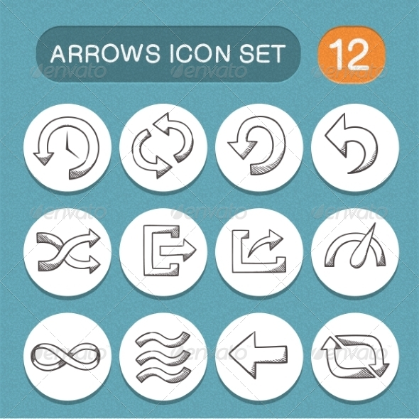 GraphicRiver Arrows Symbols Set 7814218
