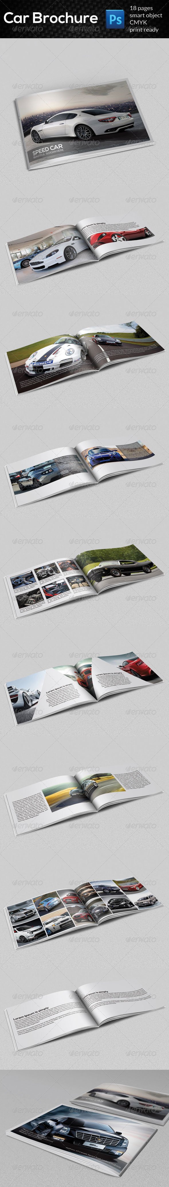 GraphicRiver Car Brochure 7814235