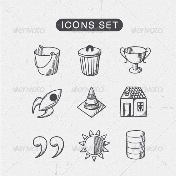 GraphicRiver Miscellaneous Symbols Set 7814236